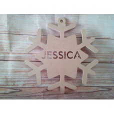 4mm MDF Snowflake Personalised 200mm